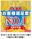 宅配水業界・お客様満足度No.1